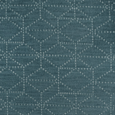 S3510 Blue Fabric: S47, ANNA ELISABETH, CRYPTON, CRYPTON HOME, PERFORMANCE, EASY TO CLEAN, GEOMETRIC, CHENILLE, BLUE