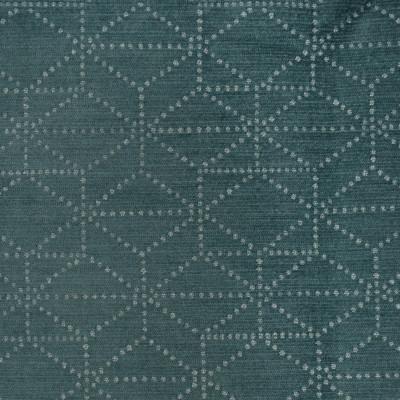 S3524 Turquoise Fabric: S47, ANNA ELISABETH, CRYPTON, CRYPTON HOME, PERFORMANCE, EASY TO CLEAN, GEOMETRIC, TEAL, CHENILLE