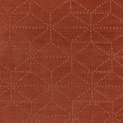S3561 Woodrose Fabric: S47, ANNA ELISABETH, CRYPTON, CRYPTON HOME, PERFORMANCE, EASY TO CLEAN, GEOMETRIC, CHENILLE, RED, ORANGE, WOODROSE