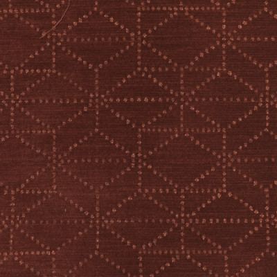 S3565 Wine Fabric: S47, ANNA ELISABETH, CRYPTON, CRYPTON HOME, PERFORMANCE, EASY TO CLEAN, GEOMETRIC, CHENILLE, RED, WINE