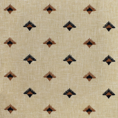 S3599 Ebony Fabric: M05, DITSY, GEOMETRIC, EMBROIDERY, BLACK, BROWN, EBONY
