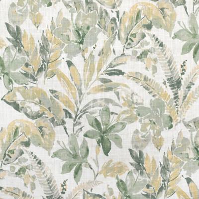 S3601 Silversage Fabric: M05, FLORAL, BEACH, TROPICAL, FOLIAGE, PRINT, GREEN, NEUTRAL, SILVERSAGE