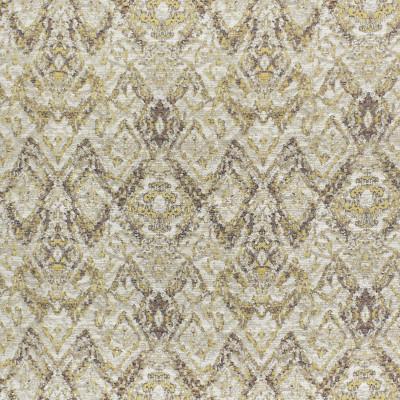 S3605 Dijon Fabric: M05, GEOMETRIC, MEDALLION, CHENILLE, GOLD, NEUTRAL, DIJON