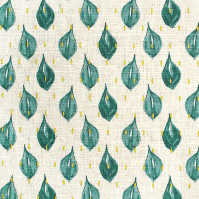 S3613 Turquoise Fabric: M05, GEOMETRIC, CONTEMPORARY, PRINT, EMBROIDERY, PRINTED EMBROIDERY, TEAL, GREEN, TURQUOISE