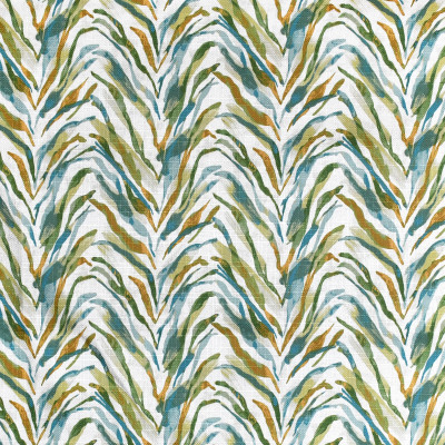 S3617 Lagoon Fabric: M05, ANIMAL, SKIN, PRINT, TEAL, GREEN, LAGOON, ZEBRA