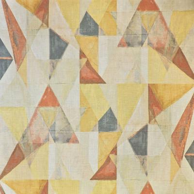 S3619 Sienna Fabric: M05, GEOMETRIC, PRINT, ORANGE, YELLOW, SIENNA