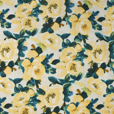 S3621 Lemon Fabric: M05, FLORAL, PRINT, YELLOW, TEAL, LEMON