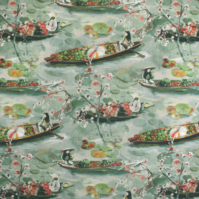 S3630 Silversage Fabric: M05, ASIAN, TOILE, PRINT, PINK, GREEN, SILVERSAGE