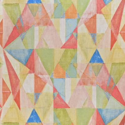 S3632 Golden Fabric: M05, GEOMETRIC, PRINT, PINK, GOLD, GREEN, MULTI, GOLDEN