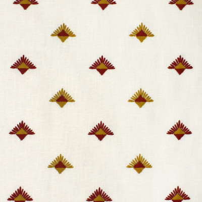 S3637 Paprika Fabric: M05, DITSY, GEOMETRIC, EMBROIDERY, RED, GOLD, PAPRIKA