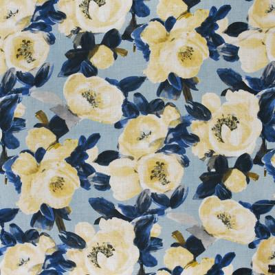 S3660 Stream Fabric: M05, FLORAL, PRINT, BLUE, YELLOW