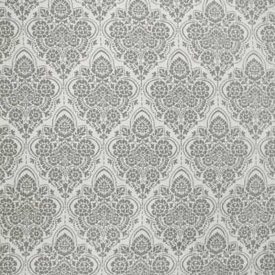 S3722 Dove Fabric: S49, MADE IN USA, CRYPTON, CRYPTON HOME, PERFORMANCE, EXCLUSIVE, MEDALLION, FLORAL, GRAY, GREY
