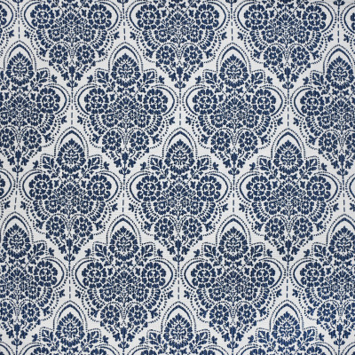 S3796 Navy Fabric: S50, MADE IN USA, CRYPTON, CRYPTON HOME, PERFORMANCE, EXCLUSIVE, MEDALLION, FLORAL, BLUE, NAVY