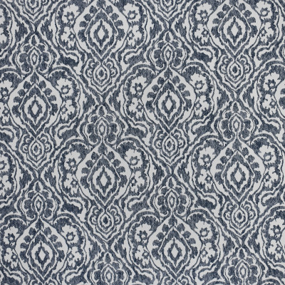 S3797 Midnight Fabric: S50, MADE IN USA, CRYPTON, CRYPTON HOME, PERFORMANCE, EXCLUSIVE, MEDALLION, BLUE, MIDNIGHT