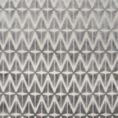 S3812 Slate Fabric: S51, GEOMETRIC, VELVET, TEXTURE, CUT VELVET, GRAY, GREY, SLATE