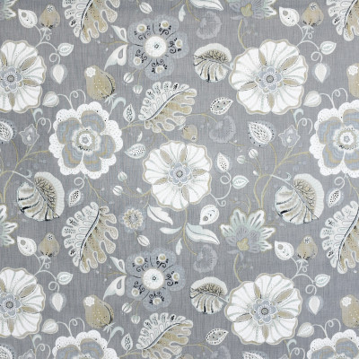 S3823 Flannel Fabric: S51, FLORAL, TRADITIONAL, PRINT, GRAY, GREY, NEUTRAL, FLANNEL