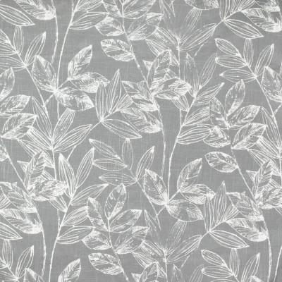 S3830 Flannel Fabric: S51, FOLIAGE, LEAF, PRINT, GRAY, GREY, FLANNEL
