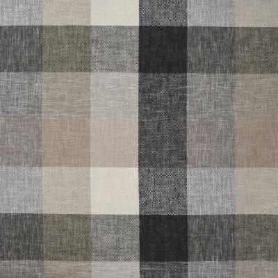 S3847 Limestone Fabric: S51, CHECK, WOVEN, NEUTRAL, GRAY, GREY, BLACK, LIMESTONE