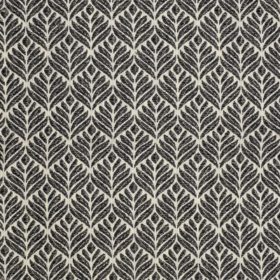 S3855 Charcoal Fabric: S51, FLORAL, MEDALLION, WOVEN, GRAY, GREY, CHARCOAL