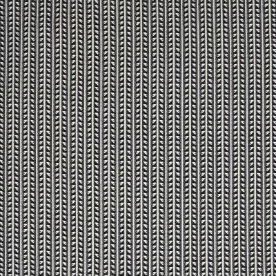 S3857 Domino Fabric: S51, STRIPE, SMALL SCALE, WOVEN, BLACK, DOMINO
