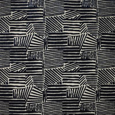 S3859 Onyx Fabric: S51, GEOMETRIC, CONTEMPORARY, CHENILLE, BLACK, ONYX