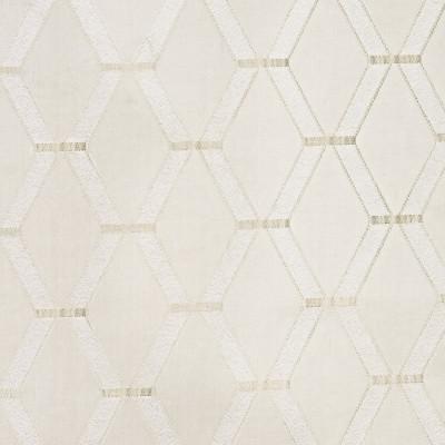 S3875 Vanilla Fabric: S52, GEOMETRIC, SATIN, DAMASK, WHITE, VANILLA