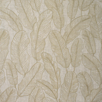 S3885 Ivory Fabric: S52, FOLIAGE, TROPICAL, EMBROIDERY, NEUTRAL, IVORY