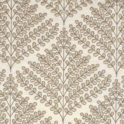 S3886 Sandstone Fabric: S52, FOLIAGE, FLORAL, EMBROIDERY, NEUTRAL, SANDSTONE