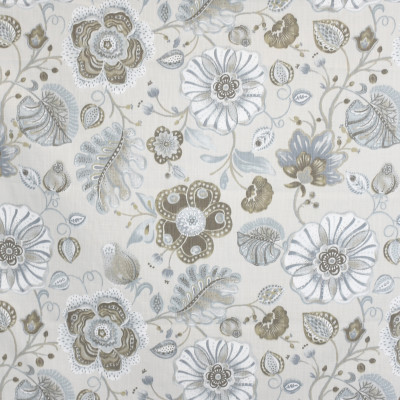 S3892 Oyster Fabric: S52, FLORAL, PRINT, NEUTRAL, OYSTER