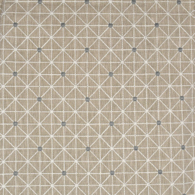 S3893 Linen Fabric: S52, GEOMETRIC, CONTEMPORARY, EMBROIDERY, NEUTRAL, LINEN