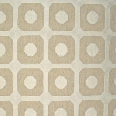 S3894 Beige Fabric: S52, GEOMETRIC, DOT, EMBROIDERY, NEUTRAL, BEIGE