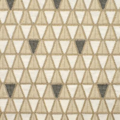 S3895 Sandstone Fabric: S52, GEOMETRIC, CONTEMPORARY, EMBROIDERY, NEUTRAL, SANDSTONE