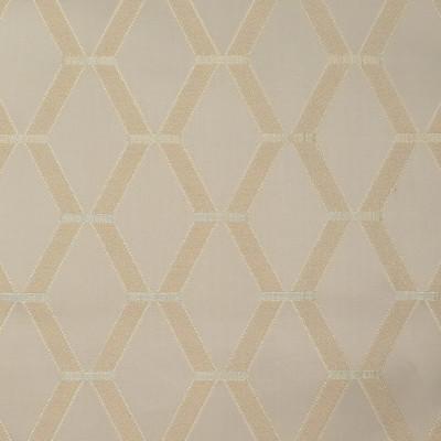 S3897 Wheat Fabric: S52, GEOMETRIC, DAMASK, SATIN, NEUTRAL, WHEAT