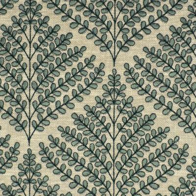 S3944 Aloe Fabric: S53, FLORAL, FOLIAGE, EMBROIDERY, GREEN, ALOE, WINDOW