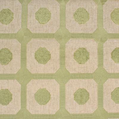 S3953 Sage Fabric: S53, GEOMETRIC, EMBROIDERY, GREEN, SAGE