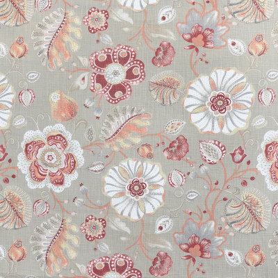 S3962 Bloom Fabric: S53, FLORAL, PRINT, PINK, RED, BLOOM