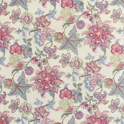S3968 Parchment Fabric: S53, FLORAL, PRINT, PINK, PARCHMENT