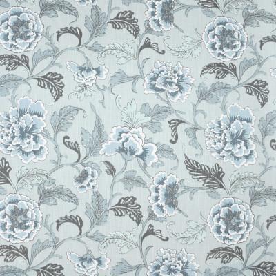 S3986 Mist Fabric: S54, FLORAL, PRINT, BLUE, MIST, SPA