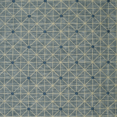 S3993 Seaside Fabric: S54, GEOMETRIC, EMBROIDERY, NAUTICAL, BLUE, SEASIDE, WINDOW