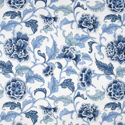 S3996 Indigo Fabric: S54, TRADITIONAL, FLORAL, PRINT, BLUE, INDIGO