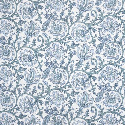 S3998 Spa Fabric: S54, FLORAL, ANIMAL, BIRD, PRINT, BLUE, SPA