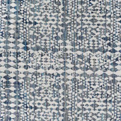 S3999 Azure Fabric: S54, GEOMETRIC, WOVEN, BLUE, AZURE