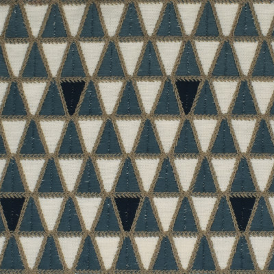 S4005 Horizon Fabric: S54, GEOMETRIC, CONTEMPORARY, EMBROIDERY, BLUE, SLATE, HORIZON