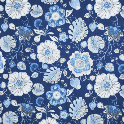 S4015 Navy Fabric: S54, FLORAL, PRINT, BLUE, NAVY