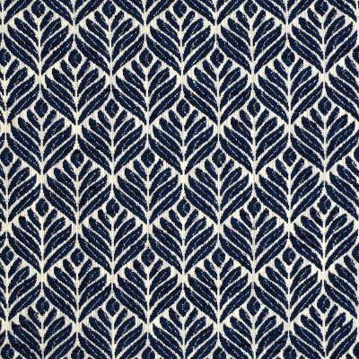 S4016 Denim Fabric: S54, FOLIAGE, MEDALLION, WOVEN, BLUE, DENIM