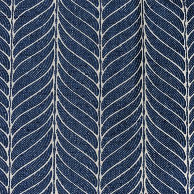 S4020 Denim Fabric: S54, GEOMETRIC, FOLIAGE, WOVEN, BLUE, DENIM