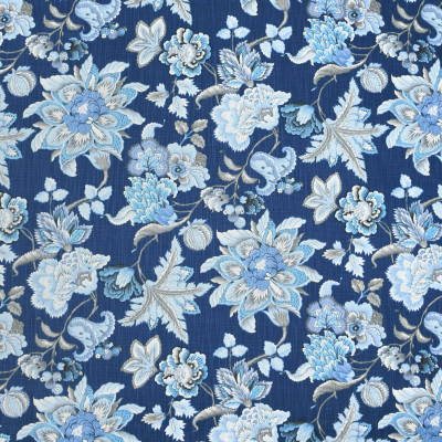 S4023 Blueberry Fabric: S54, FLORAL, PRINT, BLUE, BLUEBERRY, TRADITIONAL
