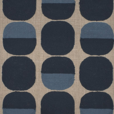S4033 Prussian Fabric: S54, DOT, CONTEMPORARY, EMBROIDERY, BLUE, PRUSSIAN, WINDOW