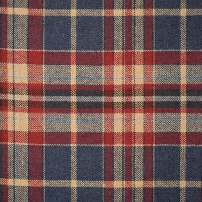 S4040 Bristol Fabric: S55, WOOL, WOOL BLEND, MENSWEAR, PLAID, BLUE, RED, NEUTRAL