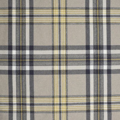 S4044 Putty Fabric: S55, PLAID, WOVEN, YELLOW, GRAY, GREY, PUTTY